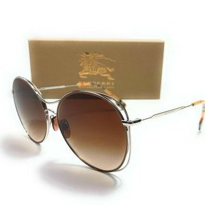 Burberry Beige w/ Silver Trim 60mm Sunglasses